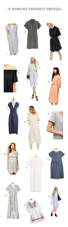(dress above on sale for $50!) My favorite way to stay cool in the summer is in a dress but it can be frustrating to find dresses that are also nursing friendly so we did the work for you! Click through to see a round up of 15 nursing friendly dresses. one / two / …