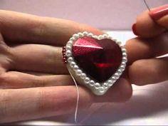 TUTORIAL PERLINE [13] - Rifinitura embroidery alternativa. No brickstitch. (Beading tutorial) - YouTube