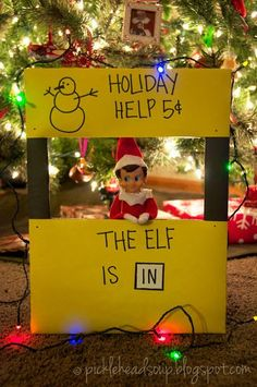 A Charlie Brown Christmas - my favorite Elf on the Shelf idea EVER!!