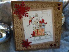 Kari Anne's hobby Marianne Design, Magnolia, Christmas Cards, Frame, Decor, La La Land, Pictures, Christmas E Cards, Picture Frame