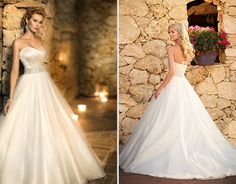 Ella Bridal Style 5647 | Dolce Satin Gown with Tulle Skirt