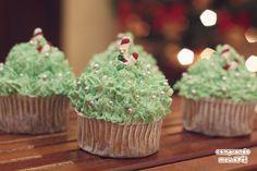 Receita fácil | Como decorar cupcakes para o Natal | Decoração de Natal | Arranjos para decorar a casa para o Natal (Faça você mesmo) DIY