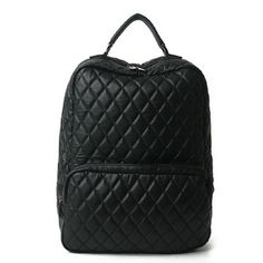 100% Handmade Genuine Leather Notebook Bagpack - Kemy -Black