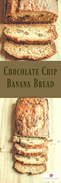 My kids love banana bread, and so do I. This Easy Chocolate Chip Banana Bread is the best. It's crispy on the outside, moist on the inside and simply delicious! You can enjoy it for breakfast, snack or dessert.
