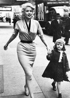 candycloth:Jayne Mansfield & Daughter (Mariska Hargitay) In Manhattan