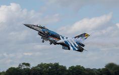 Hellenic Air Force F-16 Demo Team 'Zeus' RIAT 2016