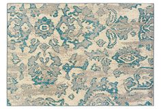 One Kings Lane - Easy Upgrades - Erie Rug, Ivory/Blue