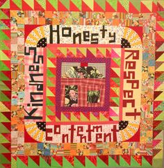 Virtues Quilt by the incredibly talented Nifty. this quilt was made of orphan blocks.