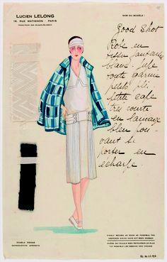 Modèle 'Le Passant' de la maison Lucien Lelong, vers 1925, musée Galliera de la mode de la ville de Paris.