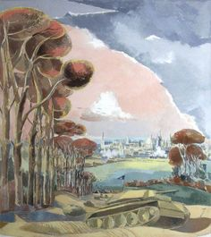 Paul Nash Oxford During the War 1942