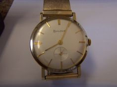 Vintage Mens Bulova watch Runs and looks great! Bulova Mens Watches, Gold Watch, Omega Watch, Looks Great, Stones, Vintage, Accessories, Jewelry, Rocks