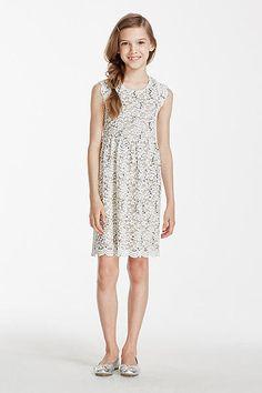 Short Scalloped Cap Sleeve Sequin Lace Dress 53099