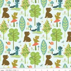 Sheri Berry Designs - Woodland Tails - Bear in Blue