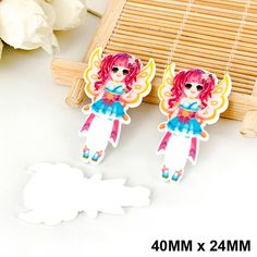 50pcs/lot Angel Wings Princess Fairy Flat Back Resin Kawaii Planar Resin DIY Crafts for Home Decoration Accessories DL-527