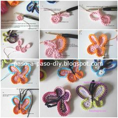 DIY Simply Crochet Butterfly with Free Pattern Crochet Diy, Crochet Simple, Simply Crochet, Crochet Amigurumi, Crochet Motifs, Crochet Crafts, Crochet Stitches, Crochet Projects, Crochet Patterns