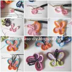 Cómo hacer una mariposa crochet / DIY - Paso a Paso