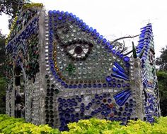 The Minnie Evans Bottle Chapel was erected by Virginia Wright-Frierson in 2004 at Airlie Gardens, Wilmington, NC