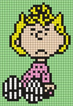 Sally Sitting From Snoopy And The Peanuts Gang by Maninthebook on Kandi Patterns