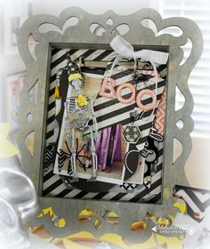 it's a non traditional halloween « Heidi Swapp wooden shadowbox spritzed in Tinsel ColorShine #heidiswapp #colorshine #Halloween