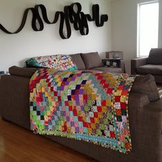 It is such a dreary day, thank goodness for cheery quilts to brighten the place up a bit! by Lorena in Sydney, via Flickr