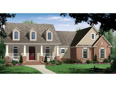 FAVORITE The Jeremy Country Home has 4 bedrooms and 3 full baths. See amenities for Plan 077D-0101.