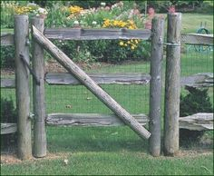 White Cedar Split Rail Walk Gate - Whether you choose to keep animals in or out of your garden, the introduction of wire fencing camouflages the important functionality of this sturdy Split Rail.