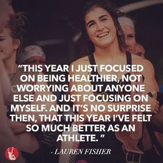 """""""The biggest challenge that I had to overcome was when I badly sprained my ankle two weeks before Regionals, last year. I wasn't 100% last year, and I think overcoming that has really helped me grow as an athlete this year."""" - Lauren Fisher..."""