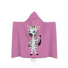 Little Zebra Hooded Blanket - Pink. by MbiziHome on Etsy Pet Urine, Hooded Blanket, Favorite Color, Blankets, Hoods, Trending Outfits, Handmade Gifts, Pink, Etsy