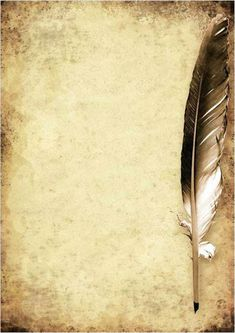 Parchment Paper Quill Pen