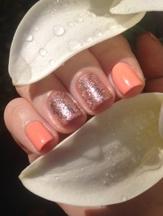Chanel 307 Orange Fizz and OPI Mad As A Hatter