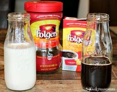Homemade Instant Iced Coffee Recipe - - This is an easy Homemade Instant Iced Coffee Recipe. Folgers Iced Coffee Recipe, Instant Iced Coffee Recipe, Homemade Iced Coffee, Cold Brew Coffee Recipe, Making Cold Brew Coffee, How To Make Ice Coffee, Coffee Recipes, Instant Coffee, Tea Recipes