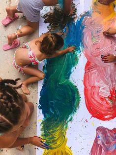 Explosión de colores. Actividad para verano. - AEIOUTURURU | Talleres creativos para peques Lily Pulitzer, Ideas, Outdoor Decor, Dresses, Fashion, Summer Time, Creativity, Colors, Artists