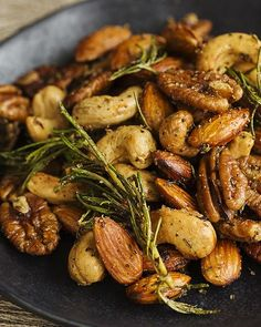 Spicy Fried Mixed Nuts Recipe - #sweetpaul #CrateBarrelHoliday #Nuts