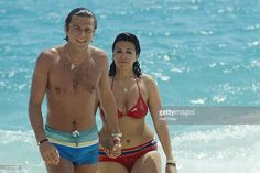Christina Onassis and French pharmaceutical heir Thierry Roussel on...