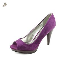 Style & Co Celine Womens Size 9.5 Purple Suede Platforms Heels Shoes - Style co pumps for women (*Amazon Partner-Link)