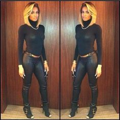 {Grow Lust Worthy Hair FASTER Naturally} ========================== Go To: www.HairTriggerr.com ==========================       Ciara is Killing This Black on Black Outfit with Her Blonde Bob!
