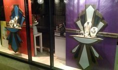 Jewellery is hard to display. big elements help in Kendra Scott windows by Jarred Simons Austin