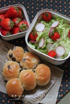 Bento with Raisin Bread レーズンパン弁当