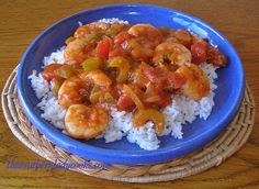 This shrimp creole is a great dish for guests or family. We like it over rice. 1 pound fresh or frozen shrimp, peeled and deveined1 cup onion, chopped1 cup green pepper, chopped1 cup celery, chop...