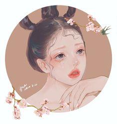 Cute Black Wallpaper, China Dolls, Cyberpunk Art, Cartoon Art Styles, Anime Fantasy, Kawaii Art, Mixed Media Artists, Anime Art Girl, Disney Art