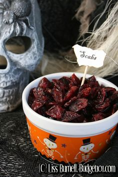 Serve your guests the very best, fresh scabs! This eerie looking treat is actually a healthy choice for your festive table