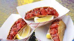 Eat this: Raw Ahi tuna taco at Big & Little's