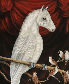 I wonder if, on some uncharted territory, tiny winged horses fly through the sky. By @corineperier