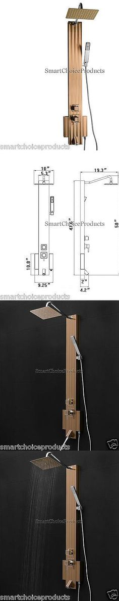 Massagers: 50 Wall Mount Shower Tower Panel Rainfall Style Handheld Wand Stainless Steel BUY IT NOW ONLY: $129.0 #priceabateMassagers OR #priceabate