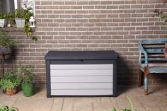 Keter Denali 100 Gallon Resin Large Deck Box for Patio Furniture Cushion Storage *** (paid link) Want to know more, click on the image.