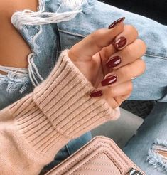 Nothing is lost in translation with classic colors like Classy Nails, Stylish Nails, Manicure, Mani Pedi, Red Nails, Hair And Nails, Nails Ideias, Cute Nails For Fall, Top Nail