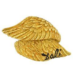 1stdibs.com   Salvador Dali, Alemany & Ertman Gold Bypass Wing Ring