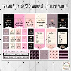 ISLAMIC STICKERS Printable Planner Stickers Planner by Kecilmamil