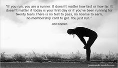 Maybe this is my problem...I don't think of myself as a runner. Need to work on my mindset as well.