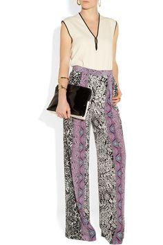 AAhhhh stunning !!! Etro|Paisley-print silk wide-leg pants